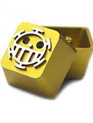 Conjunto de chave de metal de liga de alumínio transparente para teclado de teclado mecânico impresso
