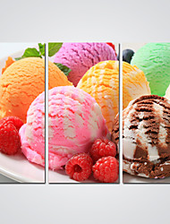 Canvas Print Colorful Ice Cream  Picture Print on Canvas for Dessert Shop Decoration Ready to Hang