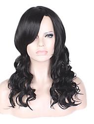 Средний длинный черный цвет рыжие волнистые синтетические парики для черных женщин
