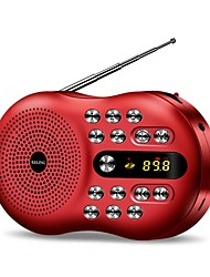 Q5 Radio portable Radio FM Enceinte interne Carte SDWorld ReceiverOr Rouge