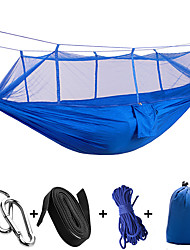 High - Strength Nylon Ultra - Light Outdoor Parachute Cloth With Mosquito Nets Hammock 260 * 140CM