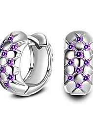 Women's Hoop Earrings Imitation Diamond Love Personalized Hypoallergenic Classic Imitation Diamond Zircon Alloy Circle Round Jewelry For