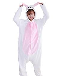 kigurumi Pyjamas Lapin Fête / Célébration Pyjamas Animale Halloween Rose Bleu Mode Brodée Flanelle Costumes de Cosplay Kigurumi Pour