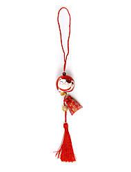Bag / Phone / Keychain Charm Lucky Cat Tassel Jingle Bell Cartoon Toy Copper metal Chinese Style