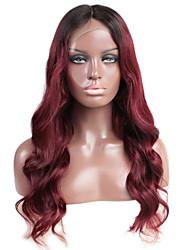Parrucche dei capelli umani frontali del merletto del corpo di ombre con i capelli del bambino 130% densità parrucca brasiliana del