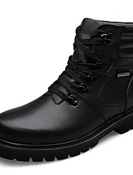 Men's Boots Snow Boots Fashion Boots Combat Boots Real Leather Cowhide Nappa Leather Winter Casual Outdoor Office & Career Lace-upFlat