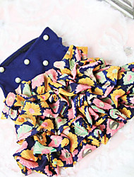 Chien Robe Vêtements pour Chien Décontracté / Quotidien Floral/Botanique Blanc Bleu
