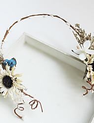 Tulle Chiffon Fabric Silk Net Headpiece-Wedding Special Occasion Birthday Party/ Evening Headbands Flowers 1 Piece