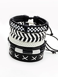 Men's Women's Wrap Bracelet Multi Layer Multi-ways Wear Leather Irregular Twist Circle Jewelry For Stage Street