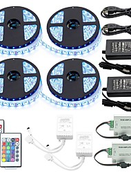 1 Set Led Strip Kit Waterproof 5050 20M(4*5M) 1200led with2PCS 24key Ir Controller and 2PCS 6A Power Supply(UL) with 2PcsRGB Signal Amplifier Repeater
