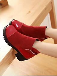 Women's Boots Comfort PU Winter Casual Comfort Ruby Yellow Black 2in-2 3/4in