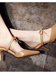 Damen Sandalen Pumps Echtes Leder PU Sommer Normal Weiß Khaki 10 - 12 cm