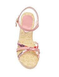 Women's Sandals Comfort PU Summer Casual Comfort Blushing Pink White 2in-2 3/4in