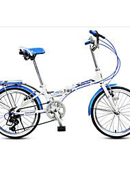 Bicicleta Dobrável Ciclismo 7 Velocidade 20 polegadas YINXING Freio em V Sem Amortecedor Quadro de Liga de Alumínio DobrávelComum