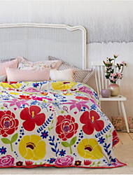Super Suave Floral Poliéster cobertores
