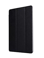 caja de cuero sólida de la PU del patrón de tres veces con el soporte para el mediapad t3 del huawei 9.6 PC de la tableta de la pulgada