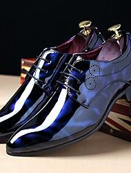 Для мужчин обувь Лакированная кожа Осень Зима Удобная обувь Туфли на шнуровке Шнуровка Назначение Повседневные Для вечеринки / ужина