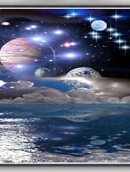 Fantasy Planet Stars Space Art Silk Poster Home Decor Painting