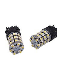 2x alta luminosidad brillante 24w 1157 3157 7743 doble color llevado bulbo de freno de la señal multi-funcional led bombilla
