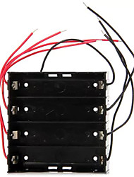 High Performance DIY 4 Slot Button Battery Holder Protection Box for 18650
