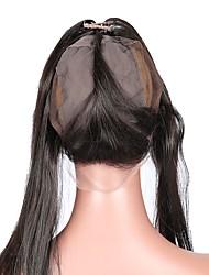 360 кружева фронтальная с крышкой парика свободная часть прямые малайзийские человеческие волосы remy волосы 10-20