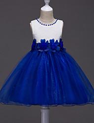 бальное платье длиной до колена платье девушки цветка - кружевная сетка безрукавная жемчужина шеи by baihe