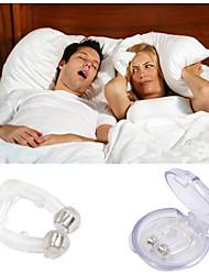 cuidado de la salud anti ronquido nariz clip ronquido silicona ayuda magnética con el caso dormir nariz clip noche bandeja sueño ayuda