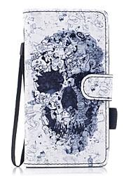 для чехлов крышка держатель карты кошелек с подставкой магнитный узор полный корпус чехол череп жесткий кожа pu для samsung galaxy j5