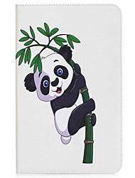 panda y el patrón de bambú titular de la tarjeta de titular con estuche de pie flip magnético pu caso de cuero para Samsung Galaxy Tab a