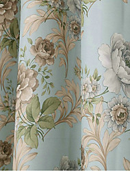 Ventana Tratamiento Flor , Floral Dormitorio Material Blackout cortinas cortinas Decoración hogareña For Ventana