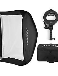 andoer photo studio multifuncional 80 * 80cm folding softbox com s-tipo handheld flash speedlite bracket com montagem de bowens e saco de