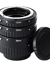 12mm20mm36mm af foco automático abs tubos de extensión para nikon dslr cámaras (nw-n-af1-bl)