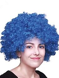 Mujer Corto Rizos Jheri Azul Peluca afroamericana Peluca de Halloween Peluca de carnaval Peluca de fiesta Las pelucas del traje