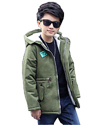 Boys' Solid Down & Cotton Padded,Cotton Polyester Fall Winter Long Sleeve