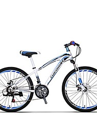 Mountain Bike Cycling 21 Speed 24 Inch SHIMANO Disc Brake Suspension Fork Steel Frame Carbon Anti-slip Aluminum Alloy Carbon Steel