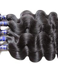 верхние перуанские человеческие волосы пучки тела волна 5шт 500 г натуральный черный цвет 100% натуральный материал для волос