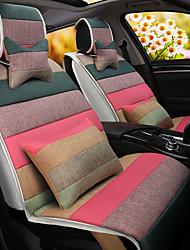 um amortecedor do carro do cartoon do arco-íris almofada de linho assento da tampa do assento quatro estações gerais todo em torno da