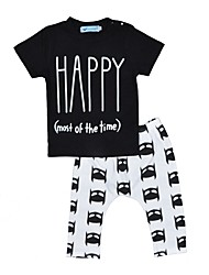 Baby Boy's Outdoor Indoor Casual/Daily Print Clothing Set,Cartoon Summer Fall