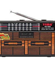 YM-168U Radio portatil Reproductor MP3 Tarjeta SDWorld ReceiverDorado Marrón Rojo
