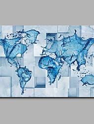 Ручная роспись Карты Горизонтальная,Художественный Абстракция День рождения Cool Модерн Офисный Рождество Новый год 1 панель Холст С