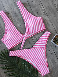 Damen Bikinis Tiefer Ausschnitt Mit Schleife Floral Druck