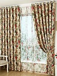 Ventana Tratamiento Rústico , Floral Sala de estar Material Blackout cortinas cortinas Decoración hogareña For Ventana