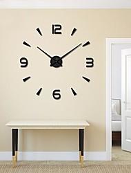 Moderno/Contemporáneo Casual Tema Jardín Tema Asiático Reloj de pared,Redondo Material Mixto Legierung Interior /Exterior Reloj