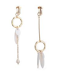 Mujer Pendientes sin combinar Perla artificial Opal imitación Moda No coincide China Legierung Forma de Círculo Forma Geométrica Joyas