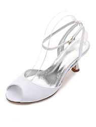 Women's Wedding Shoes Comfort Mary Jane D'Orsay & Two-Piece Basic Pump Spring Summer Satin Wedding Dress Party & Evening Rhinestone
