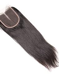 1 шт. 4x4 индийские прямые волосы кружева ткать закрытие волосы необработанные remy волосы отбеленные узлы верхние затворы средняя часть
