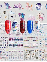 1 Стикер искусства ногтя С рисунком Наклейка для переноса воды 3-D Рождество Новый год Компоненты для самостоятельного изготовления Стикер
