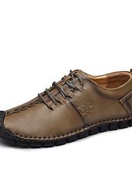 Для мужчин обувь Натуральная кожа Кожа Наппа Leather Осень Зима Обувь для дайвинга Удобная обувь Формальная обувь Туфли на шнуровке