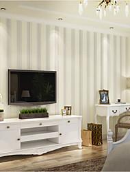 Líneas / Olas Fondo de pantalla Para el hogar Clásico Arcaico Revestimiento de pared , Tela no tejida Material adhesiva requerida