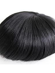 Mince peau hommes toupee vrais cheveux humains pour les hommes n ° 1 cheveux humains perruque
